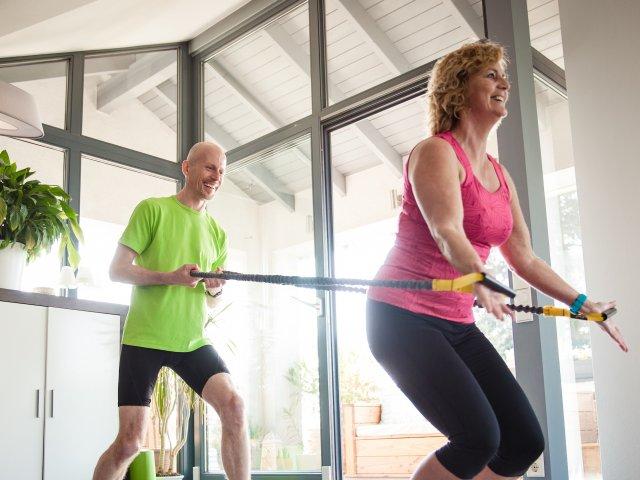 Sport mit dem Stretchband